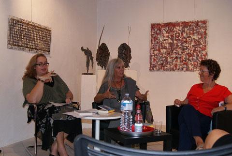 La presentazione con Francesca Mariotti, Buci Sopelsa e M. Cristina Nascosi