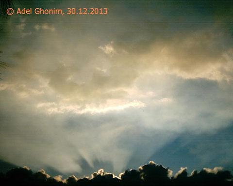 الملكوت الأرضى الفردوسى المهيب يراه المؤمن كل حين مغلفا بالروح. تصوير عادل غنيم