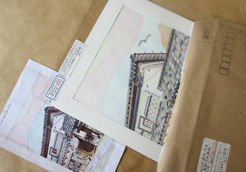 *【みやぎの国保】'16秋号表紙用水彩画作品<富谷宿>無事納品。