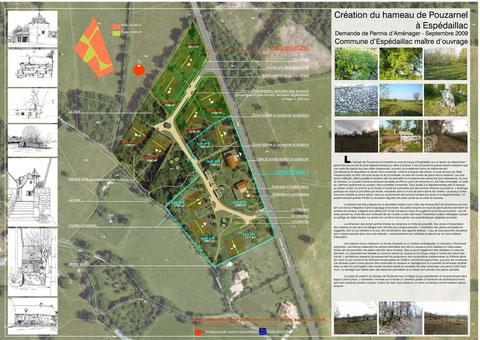 plan du lotissement du hameau de Pouzarnel