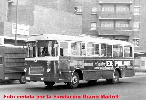 """camioneta""  P-2  unían Hortaleza con C/Diego de León"