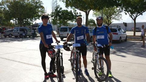 De izq. a der. Bernardo Rodriguez, Antonio Redondo, y Kiki Somé.