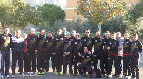 Algunos de los atletas del Club, participantes en la XXIX Media Maratón Ciudad de Córdoba.