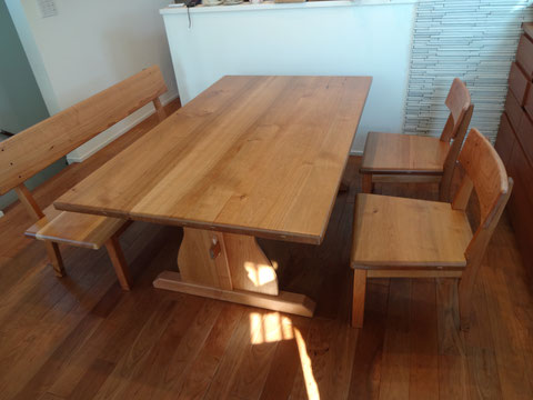 食卓 椅子 ベンチ サクラ