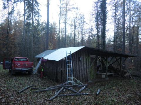 Unsere NAJU-Hütte bekommt ein neues Dach!