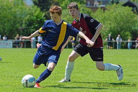 Endspiel der C Jugend JSG Plesse (blau) vs JSG HöhBernSee (5:0)