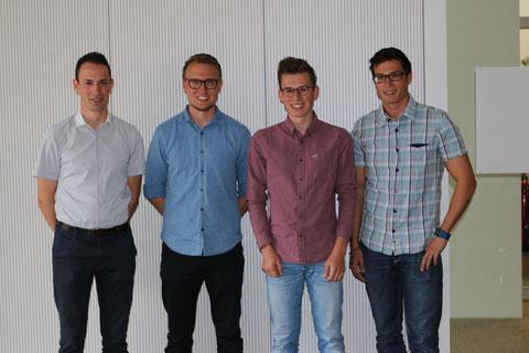 v.l.: Maximilian Nothdurft, Daniel Honold, Marvin Kornhaas, Florian Bulling