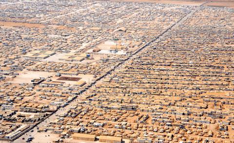 Das Syrische Flüchtlingslager Zaatari in Jordanien, im Juli 2013.