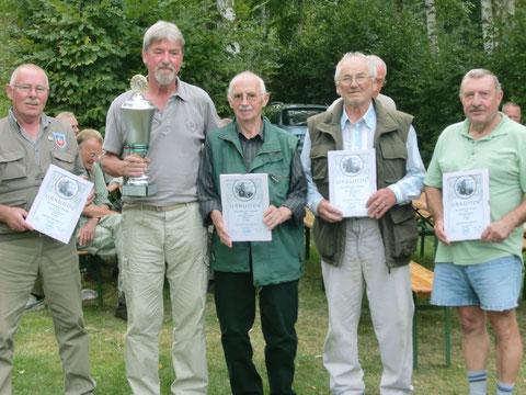 Die erfolgreichsten Senioren mit ihren Erinnerungsurkunden
