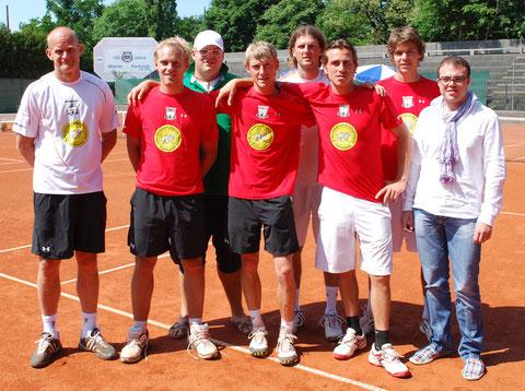 Fegten den WPC mit 9:0 vom Platz: Bohdan, Andi, Teamchef Flocky, Schurli, Pavel, Max, Pete & Glücksbringer Claus Sandner