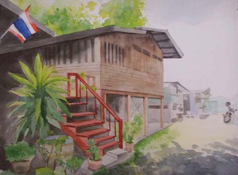 お父さんの家。 Size 320 x 250 mm