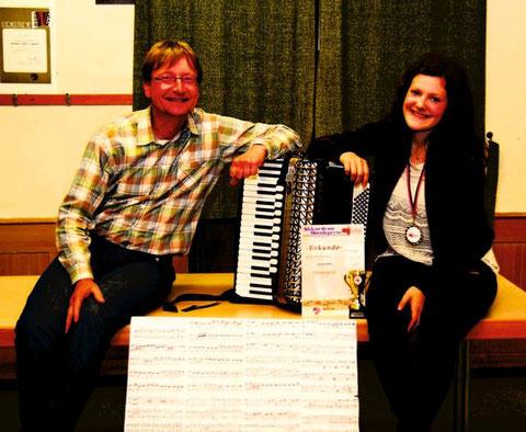 Carmen Huber erfolgreich beim Akkordeon-Musikpreis Baden-Württemberg