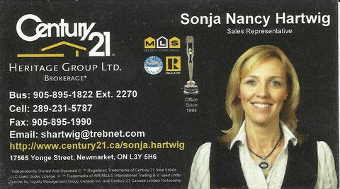Sonja Nancy Hartwig - Newmarket, ON - Canada