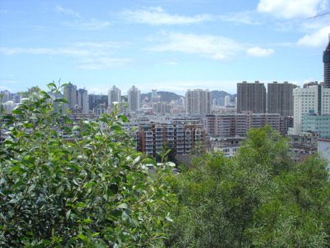 アモイの街並み鳩舎からの眺め