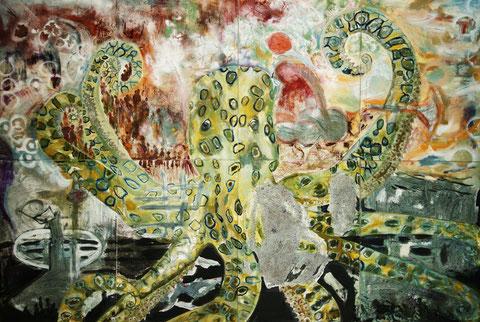 Maidan Oktopode, 8-teiliges  Bild, B 3,68 m x H 2,45 m © Nathalie Arun
