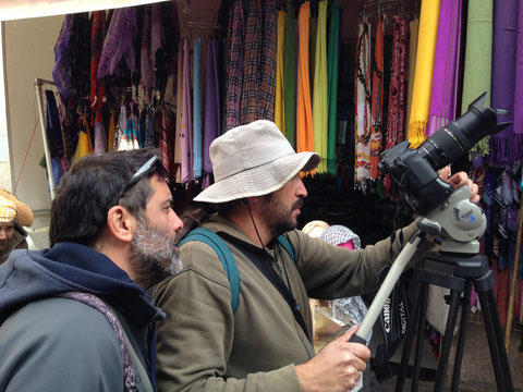 Rodaje de video promocional de la Medina de Oujda. (2014)