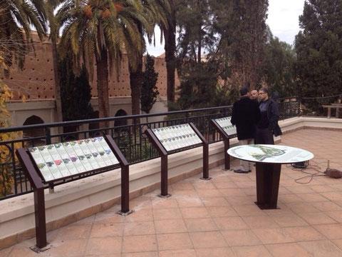 Mesas interpretativas en el Jardín Botánico Lalla Meryem. (2014)
