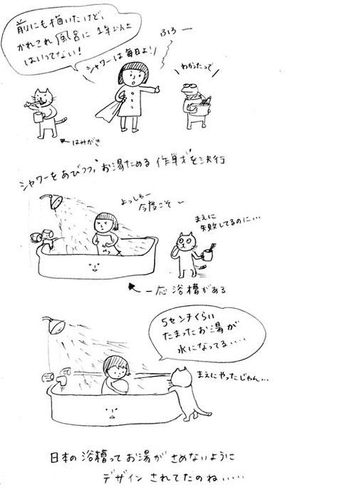Trying to take a bath!