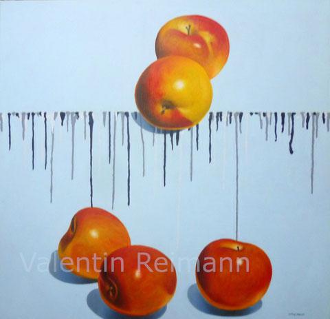 Fünf Äpfel Ölgemälde