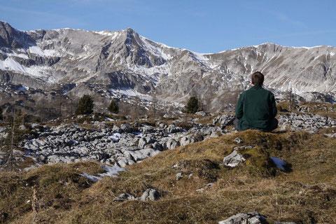 """Stilles Betrachten der Natur - auch als Spiegelung des """"Selbst"""""""