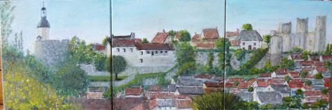 Vue du Fort de Bourbon l'Archambault, Domaine des Bourbons de l'Allier d'après un panoramique tiré par mon fils Philippe