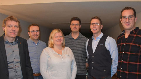 Den SV Eintracht Brual weiter nach vorne bringen wollen (von links) Vorsitzender Rochus Hiller, Jennifer Behrens, Thomas Rave, Thomas Kirchner, Josef Kosse und Joseph Broer. Foto: Hermann-Josef Döbber