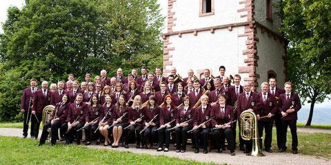 Musikverein Wiechs im Sommer 2012 am Hohe Flum Turm