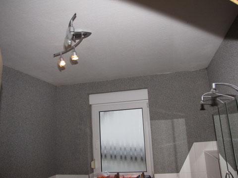 Badezimmerdecke der Frau G.K. aus P. ( vorher )
