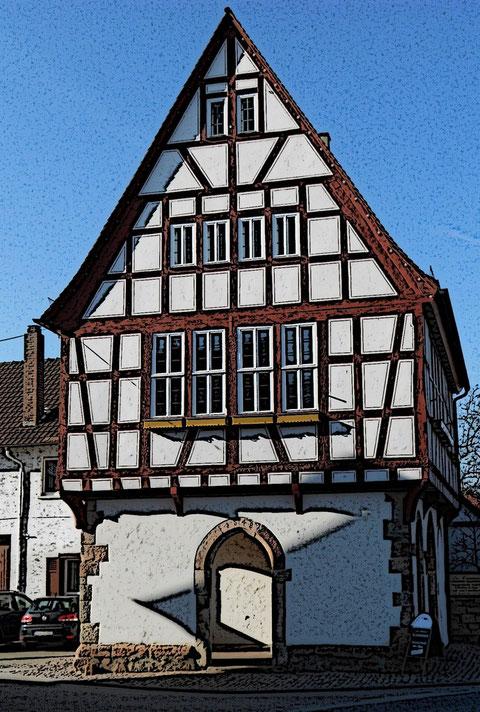 Pflaumheimer Rathaus von 1548 © Heiko Boll