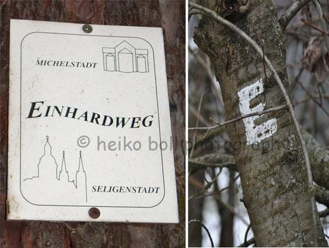 Der Einhardweg - Kennzeichnung in Radheim