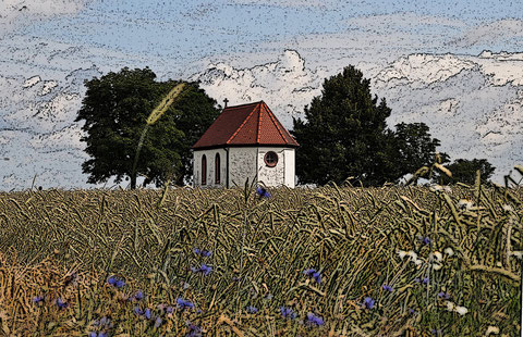 Die Anna Kapelle in Pflaumheim  © Heiko Boll