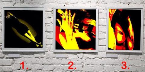 Schematisierte Bilder: 1, 2 oder 3 - wieviel Busen ist dabei?