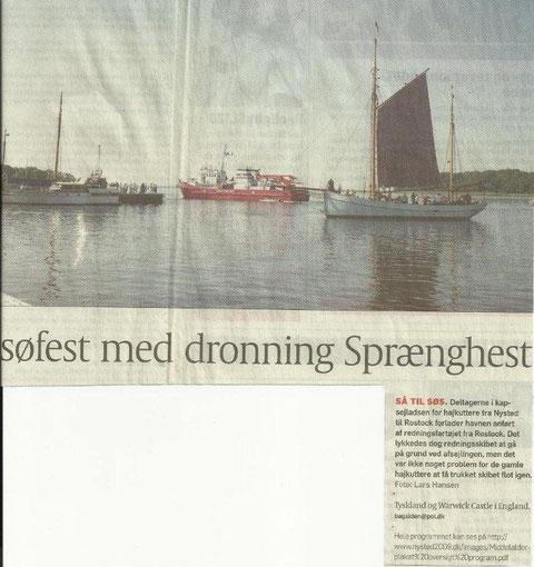 BODIL und das Feuerlöschboot nach der geglückten Rettungsaktion in Nysted 2009