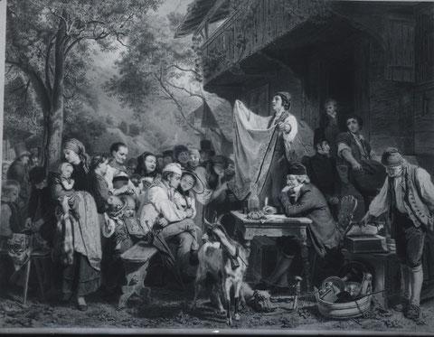 Die Steigerung Malerei Eduard Girardet um 1850