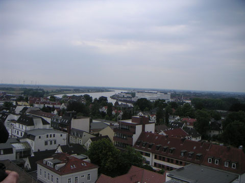 Blick über die Dächer von Vegesack