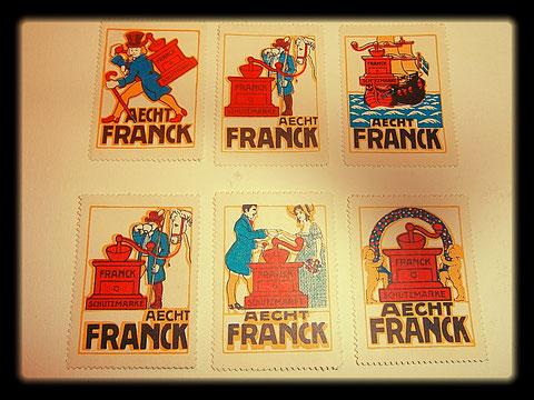 Aecht Franck Briefmarken 1910