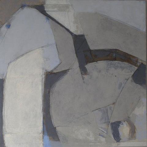 Le champ des signes / Huile sur toile 100 x 100