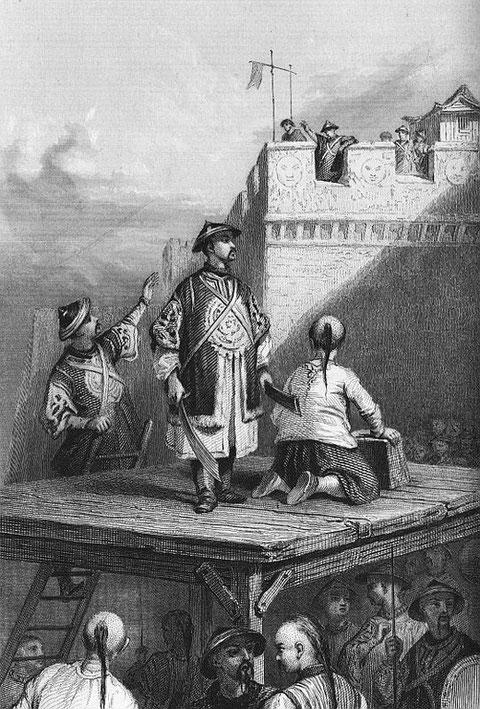 Li-Tseu-Tching détrône le dernier empereur Ming à la tête d'une bande de brigands.