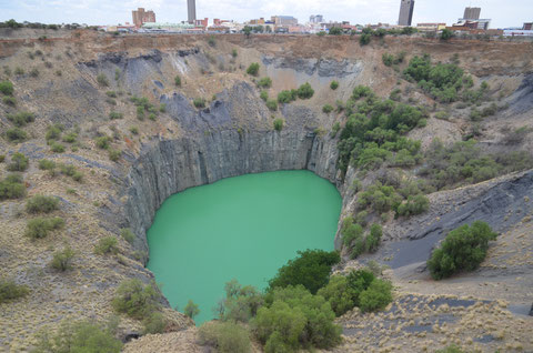 Big Hole, Kimberey riesige stillgelegte Diamantmine