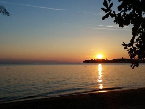 Sonnenuntergang im Golf von Pagasitikos