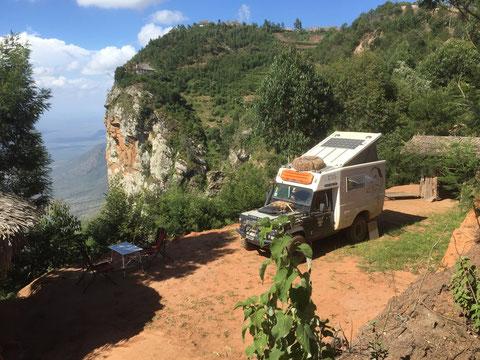 Unser Camp im Usambara Gebirge Tanzania.