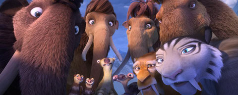 """Les héros de """"L'Âge de Glace"""" sont de retour avec leurs nombreux amis (©20th Century Fox)."""