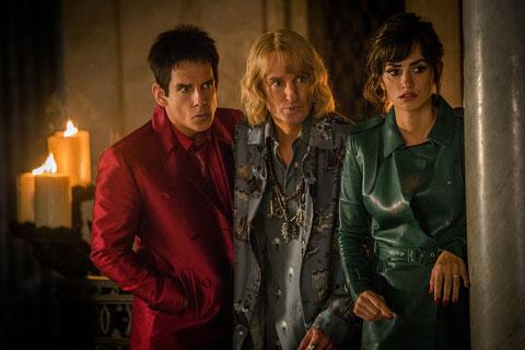 """Ben Stiller, Owen Wilson et Penélope Cruz tentent de déjouer un nouveau complot fashion dans """"Zoolander-2"""" (©Paramount Pictures France)."""