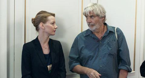 Sandra Hüller et Peter Simonischek, la fille et le père, renouent des liens (©Haut-et-Court).