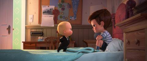 C'est la guerre entre le Baby Boss (à gauche) et son grand frère Tim, 7 ans (©20th Century Fox/DreamWorks).