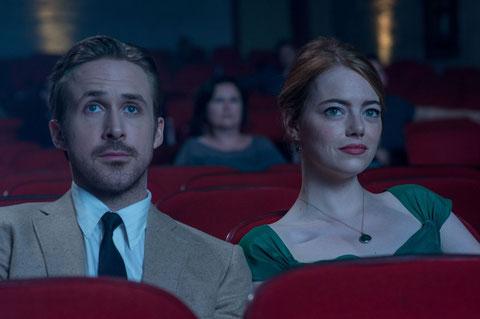 Ryan Gosling et Emma Stone, deux amoureux qui rêvent de gloire à Hollywood (©SND).