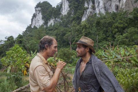 Matthew McConaughey (à gauche) et Édgar Ramírez: pour tout l'or de Bornéo (©Lewis Jacob/StudioCanal).