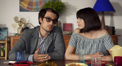 Louis Garrel et Stacy Martin interprètent le couple Jean-Luc Godard/Anne Wiazemsky (©StudioCanal).