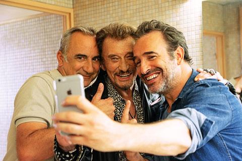 Antoine Duléry, Johnny Hallyday, Jean Dujardin: chacun sa vie et un selfie pour tous (©Metropolitan FilmExport).