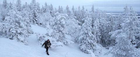 Dans la taïga russe enneigée, un homme seul... (©Borealia Films).